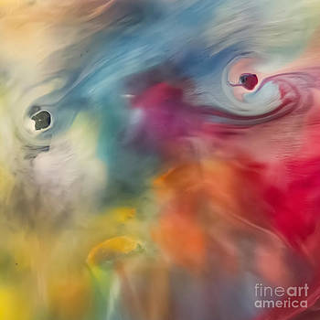 Justyna Jaszke JBJart - Colored watercolor abstraction painting
