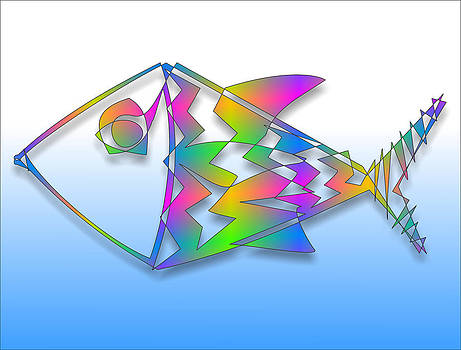 Colorful Abstract Fish by Ricardo  De Almeida