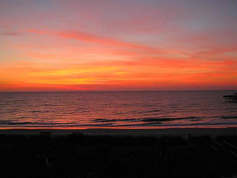 Colorful Beach Sunrise by Sarah Manspile