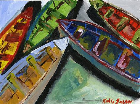 Colorful Boats by Katie Sasser