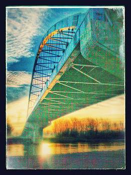 colorful bridge in Atchison by Dustin Soph