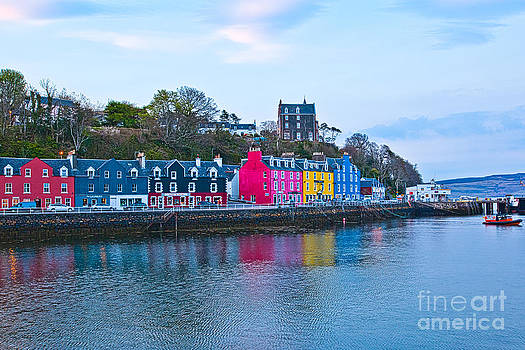Colorful Buildings in Tobermory on Isle of Mull Scotland by Christy Woodrow