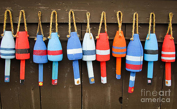 Colorful buoys by Isabel Poulin