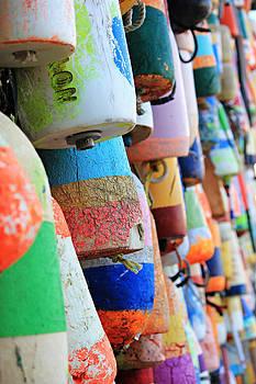 Colorful Buoys by Lynn Jordan