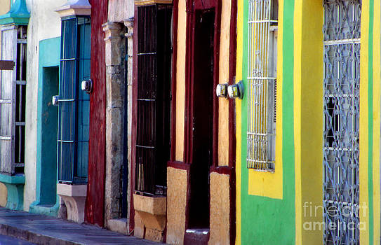 Colorful Campeche Wall by Eva Kato