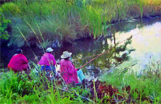 Colorful Canepoler Women of South Carolina by Patricia Greer