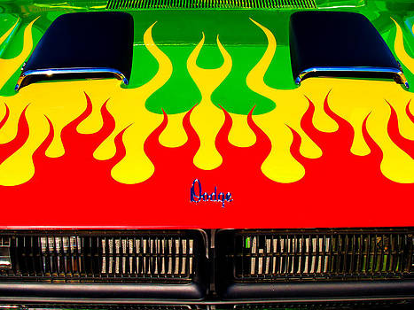 Colorful Dodge Hood by Gary De Capua