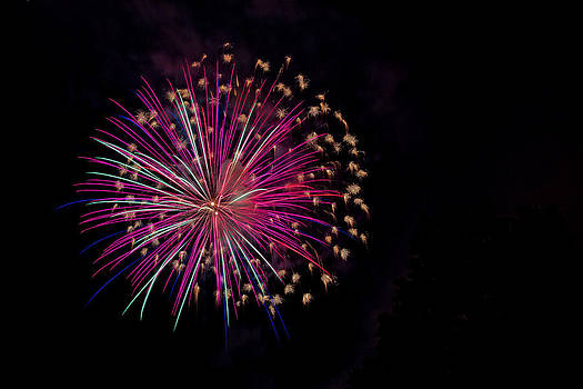 Colorful Fireworks by Wayne Stabnaw