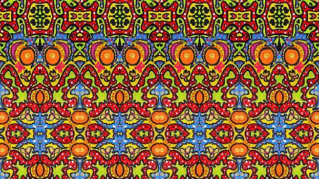 Colorful Folklore Pattern by Julia Fine Art And Photography