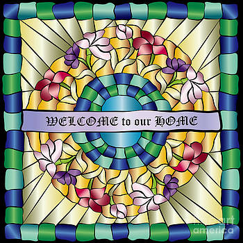 Beverly Claire Kaiya - Colorful Hand-Drawn Jewel Stained Glass Flowers