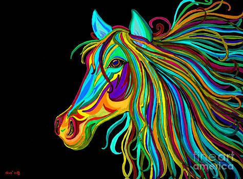 Nick Gustafson - Colorful Horse Head 2