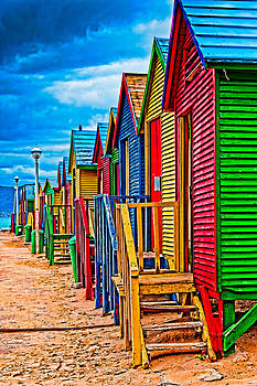 Colorful houses at St James by Cliff C Morris Jr