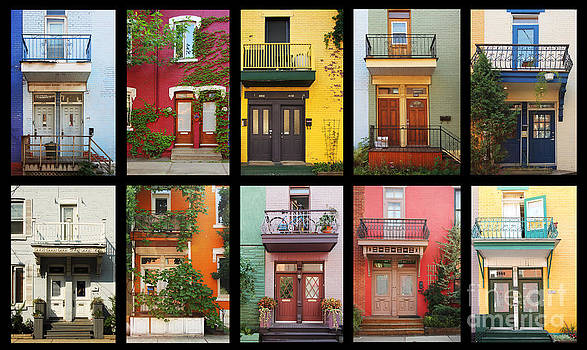 Colorful houses in Montreal by Isabel Poulin