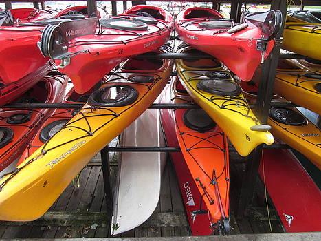 Alfred Ng - colorful kayaks
