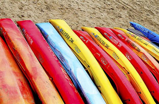 Colorful Kayak's by Danielle Allard