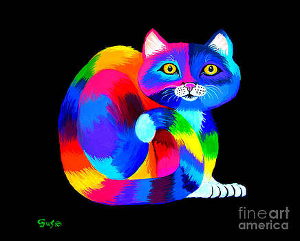 Nick Gustafson - Colorful Kitty Cat