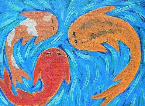 Colorful Koi by Kate McTavish