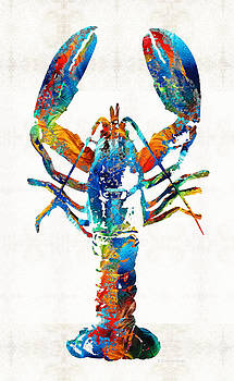 Sharon Cummings - Colorful Lobster Art by Sharon Cummings