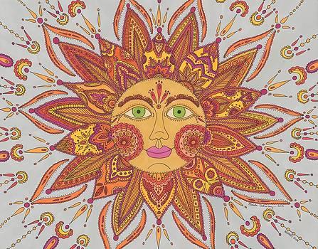 Colorful Mehndi Sun by Pamela Schiermeyer