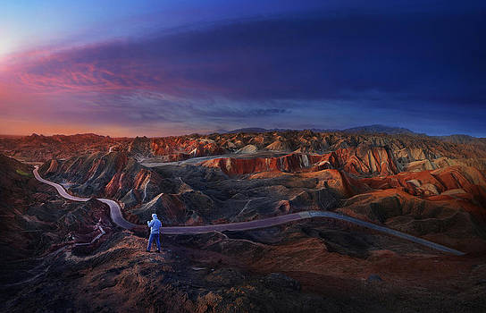 Colorful mountains by Weerapong Chaipuck