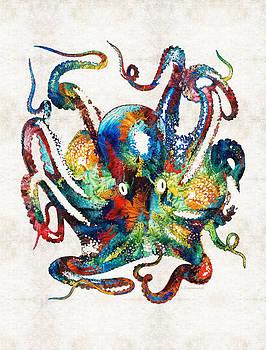 Sharon Cummings - Colorful Octopus Art by Sharon Cummings