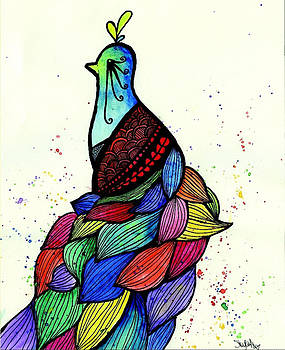 Colorful Peacock by Shylee Raquel