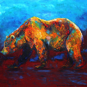 Colorful Reflections Bear Painting by Jennifer Morrison Godshalk