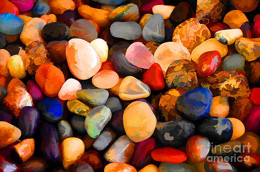 Colorful Rocks by Betsy Aguirre