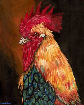 Colorful Rooster by Amanda Hukill