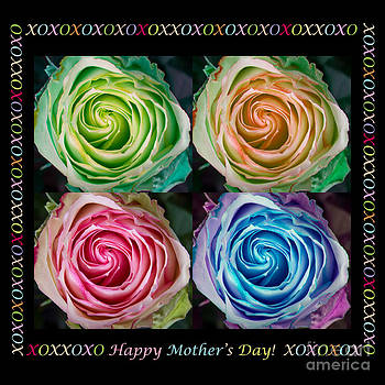 James BO  Insogna - Colorful Rose Spirals Happy Mothers Day Hugs and Kissed