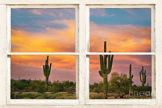 James BO  Insogna - Colorful Southwest Desert Rustic Window Art View