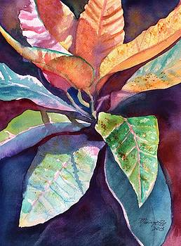 Colorful Tropical Leaves 3 by Marionette Taboniar