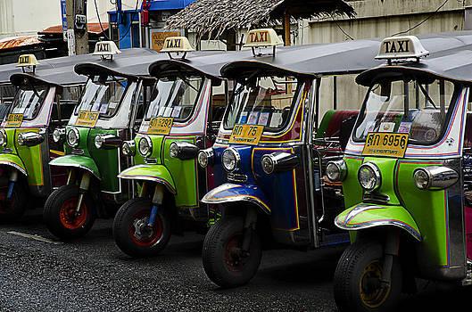 Colorful Tuk Tuks Bangkok by Duane Bigsby