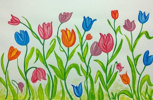 Colorful Tulips by Surabhi Jain