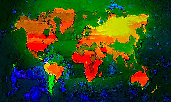 Algirdas Lukas - Colorful World Map