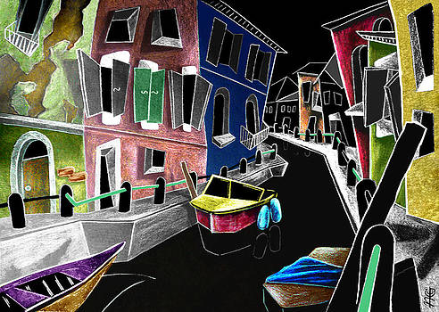 Arte Venezia - CoLoRi Di BuRaNo - Fine Art Venice Canal Paintings Italy