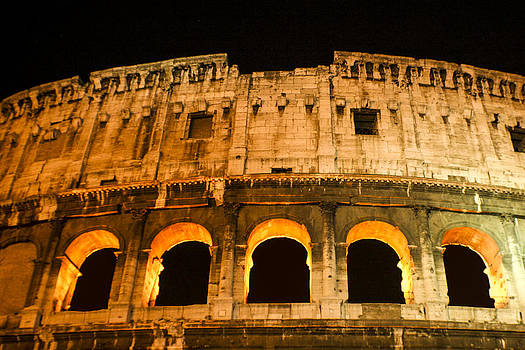 Colosseum at Night by Rob Tullis