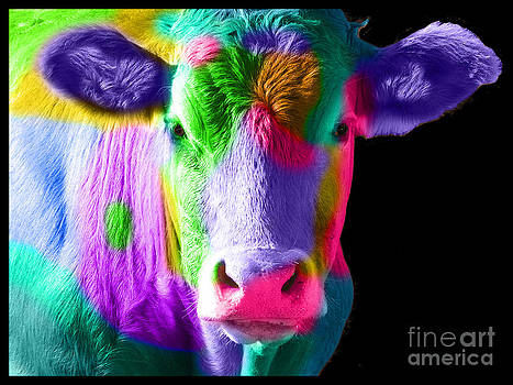 Colourful Cow by Michelle Orai