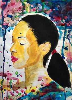 Colourful lady by Abiodun Bewaji