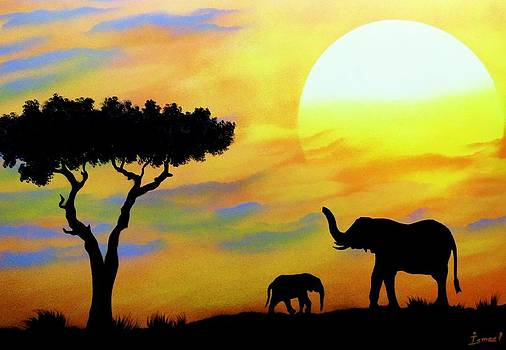 Colours of Africa by Ismael Paint