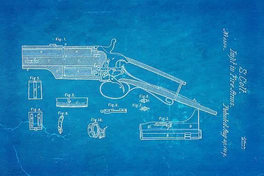 Ian Monk - Colt Pistol Patent Art 1839 Blueprint
