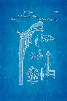 Ian Monk - Colt Pistol Patent Art 2 1839 Blueprint