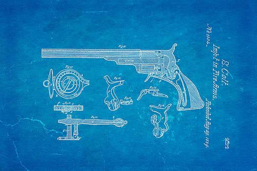 Ian Monk - Colt Pistol Patent Art  3 1839 Blueprint