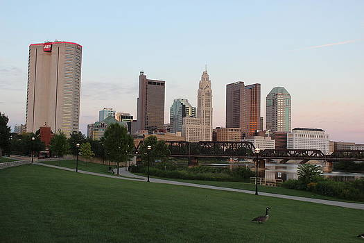 Columbus at Sunset by Mose Mathis