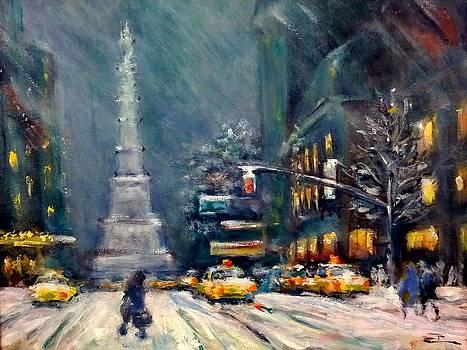 Columbus Circle Nyc by Philip Corley