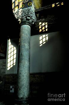 column of Hagia Sophia Istanbul by Bener Kavukcuoglu