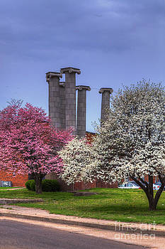 Larry Braun - Columns and Dogwood Trees