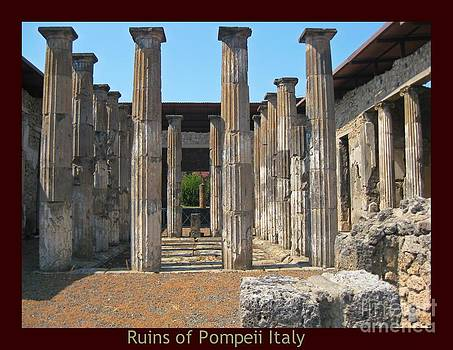 John Malone Halifax Photographer - Columns at Pompeii