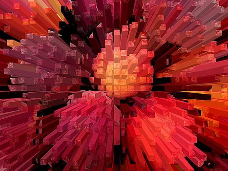 Columns of peach by Robert Gipson