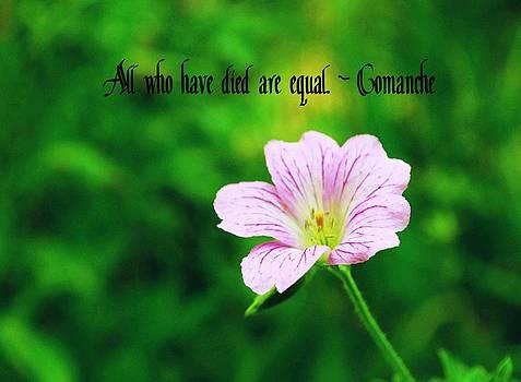 Gary Wonning - Comanche Proverb